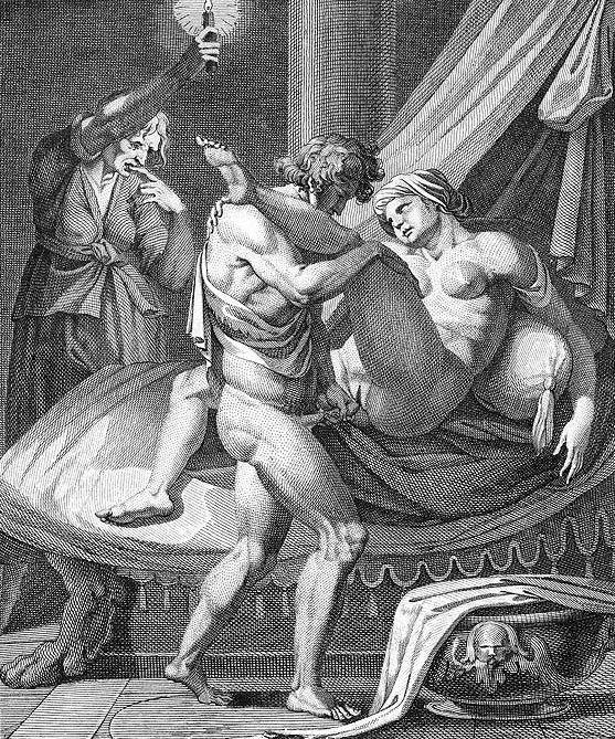 """""""Messaline dans la loge de Lisisca"""", Agostino Carracci (16ème siècle)"""