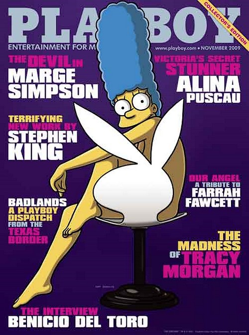 Marge, en couverture de Playboy en novembre 2009