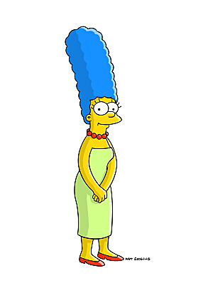 Marge Simpson, une femme simple