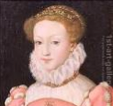 Mary Stuart, reine d'Écosse dès sa naissance.